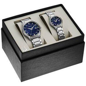 Bulova His & Hers Diamond Accent Watch Set! w/ box